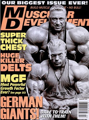 Muscular development magazine information